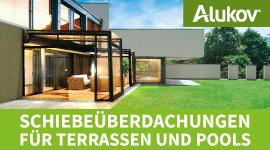 Überdachungen für Terrassen und Pools von Alukov Deutschland