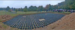 Das Ausmaß der Beisetzung in Neumark sucht bisher seinesgleichen.