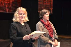 Die Preisträgerinnen des VdG-Wettbewerbs: Paula Sauer (links) und Agnieszka Szygendowska (rechts)