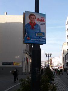 Ein Wahlposter von Róża Malik