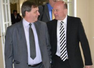 Bernard Gaida (links) und Hartmut Koschyk (rechts). Von diesen Gesprächen wird's sicherlich noch mehr geben. Foto: Łukasz Biły