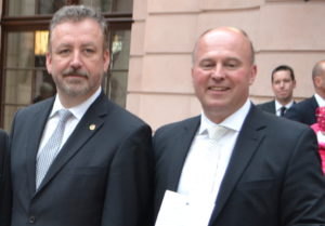 Dwóch polityków szczególnie zainteresowanych sytuacją w Polsce – Bernd Fabritius (z lewej) i Hartmut Koschyk