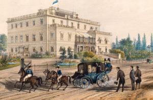 J. Rieden & W. Knippel, Schloss in Slawientschütz (Sławięcice) um 1849 Foto: mnwr.art.pl