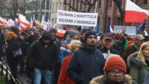 Foto: Vor einigen Wochen wurde wegen personellen Kontroversen heftig demonstriert Foto: Jusytna Łacny