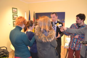 Rafał Bartek beim Interview.