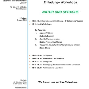 Workshop: Natur und Sprache