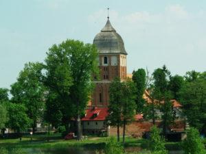 Blick vom anderen Ufer auf Kirche und Kirchhof, privat