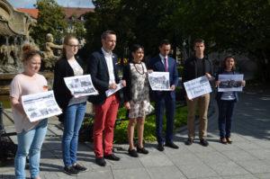 """Przedstawiciele TSKN projekt """"Poznaj z nami przedwojenne Opole"""" przedstawili podczas konferencji prasowej w miniony czwartek. Foto: TSKN"""