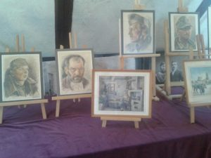 Die Aquarellen wurden an der Ostfront gemalt. Foto: M. Leibig