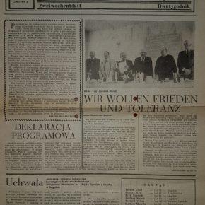 1300. wydanie Wochenblattu / 1300. Ausgabe des Wochenblattes