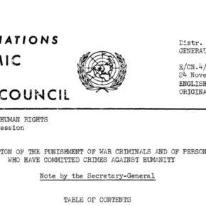 Dokument ONZ nic nie wnosi / Das UNO-Dokument trägt nichts bei