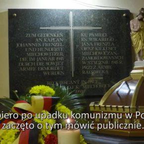 Schlesien Journal 23 10 2018: Gedenktafel in Miechowitz/ Wir besuchen den DFK Friedersdorf