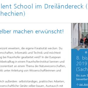 European Talent School im Dreiländereck - Jetzt bewerben!